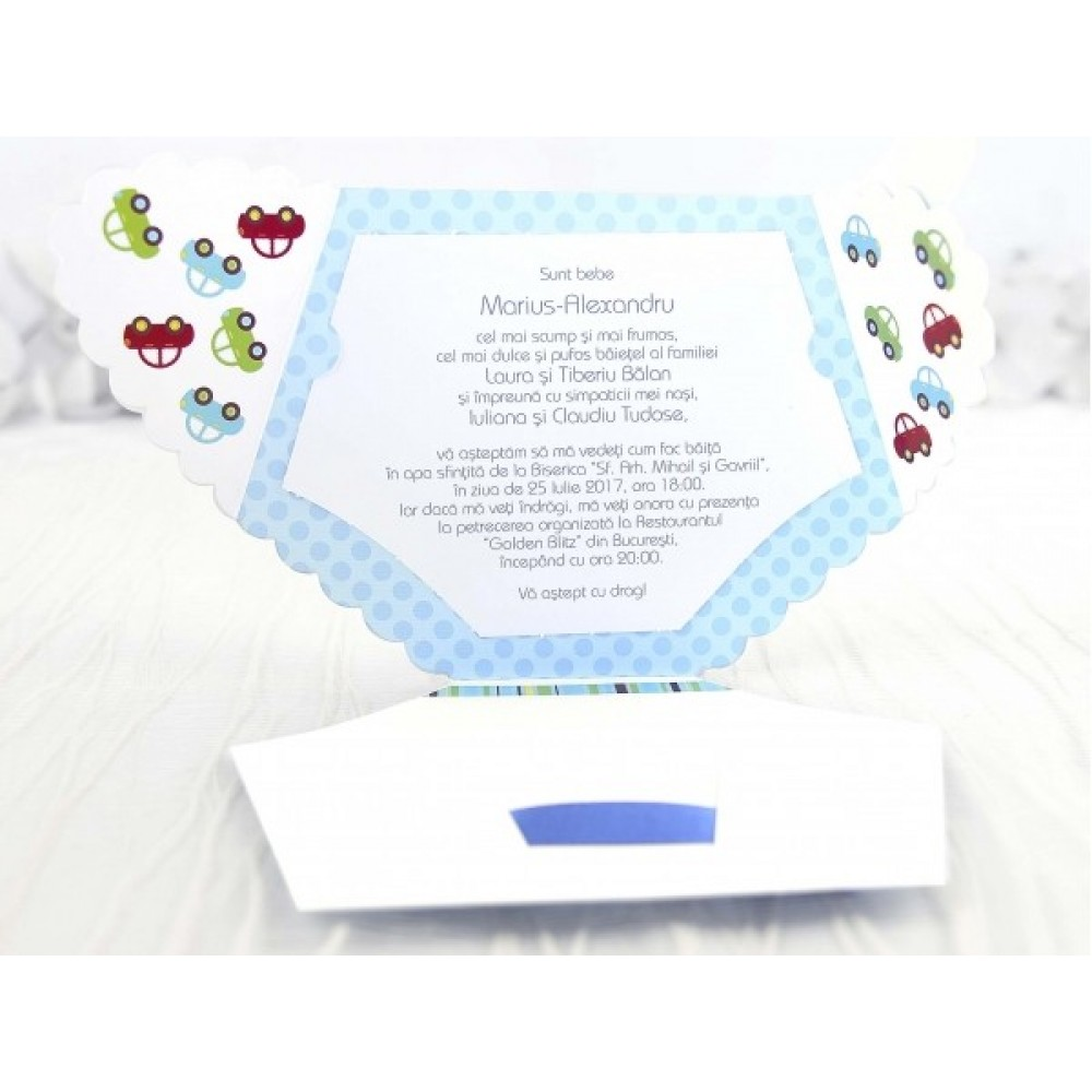 Invitație pampers bleu-15502-NBC Events