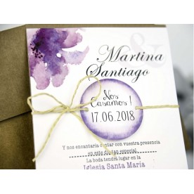 Invitatie acuarela 32635 - NBC Events