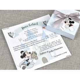 Invitatie de botez Puzzle Mickey - 15707 - NBC Events