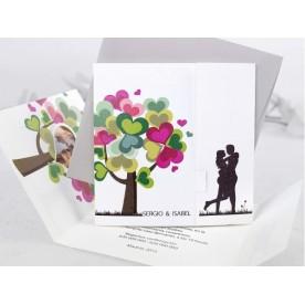 Invitatia eleganta mire si mireasa copacul iubirii 35681 -NBC Events