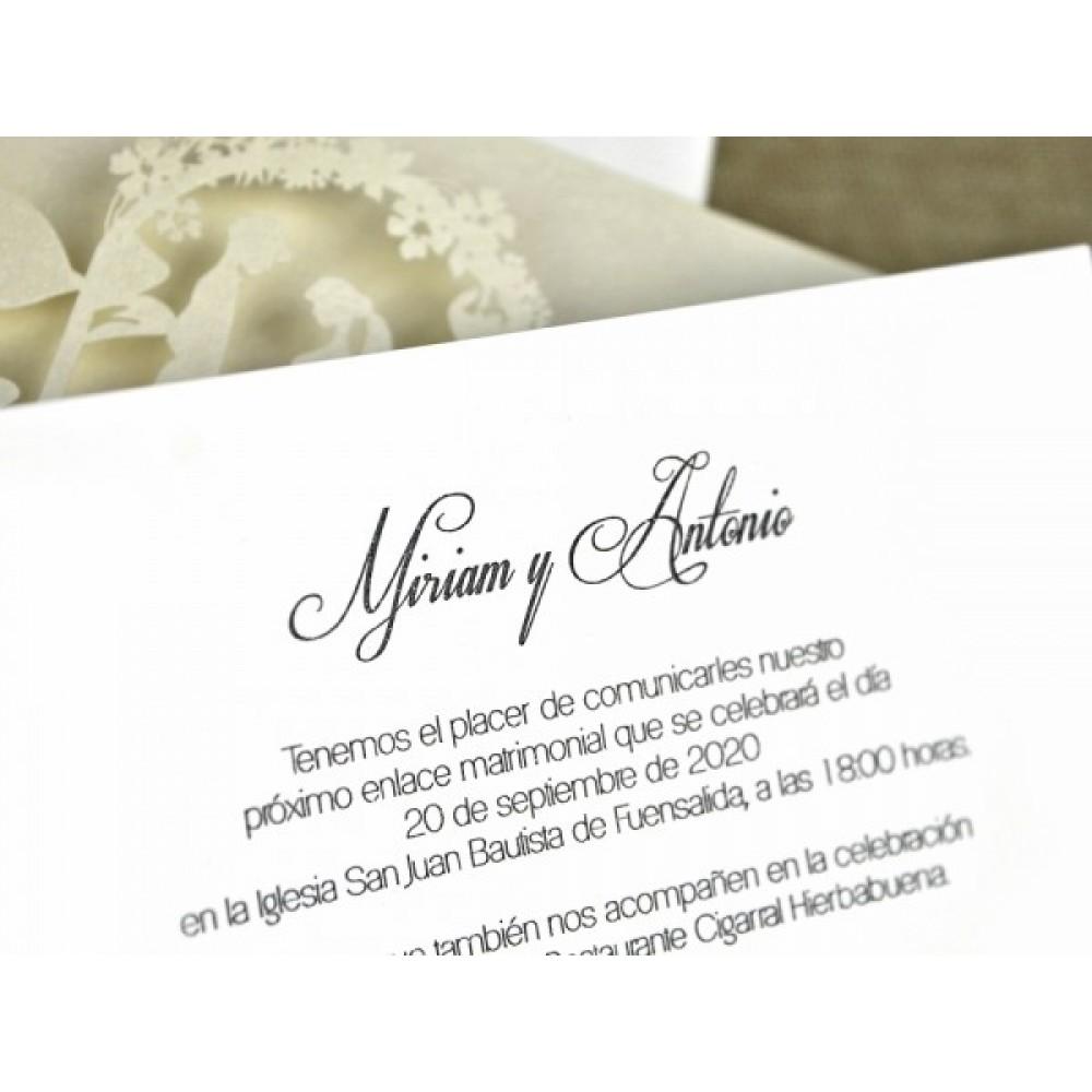Invitatie de nunta eleganta taiere laser 396251 -NBC Events